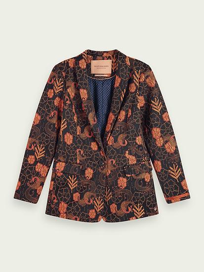 SCOTCH & SODA Single-breasted floral blazer