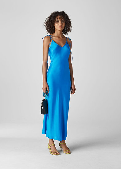 WHISTLES Blue Slip Dress