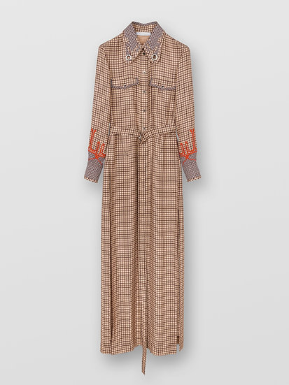 CHLOÉ Long shirt dress Women's BEIGE ROSA