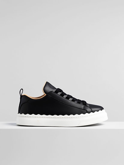 CHLOÉ Lauren sneaker Women's Black Size 6 100% Calf-skin leather