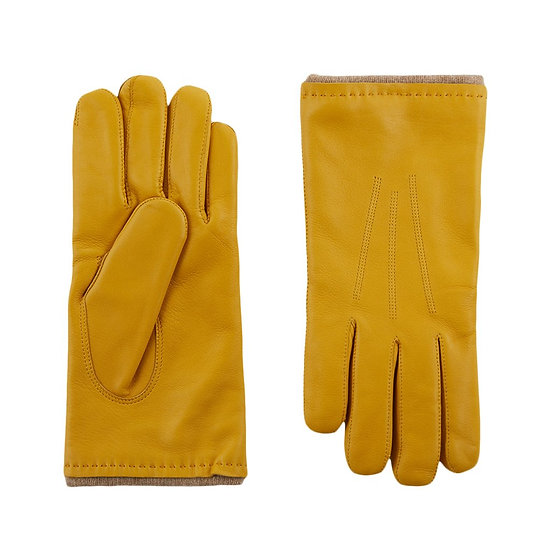 JERRY SAVED Yellow Leather Gloves
