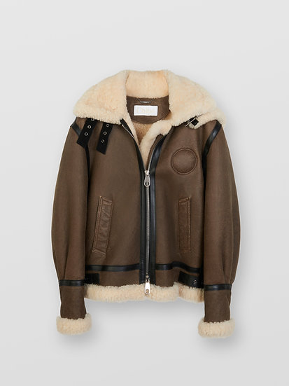 CHLOÉ Aviator Jacket Women's Authentic Brown