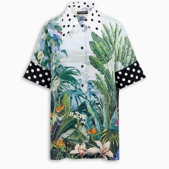 DOLCE & GABBANA Mix Tropical Over Shirt