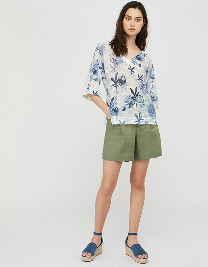 MONSOON Blue Printed Blouse