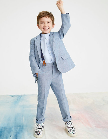 MONSOON Chambray 3 Pieces Suit