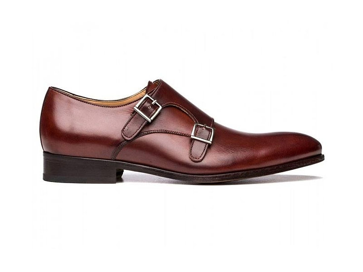ACE MARKS Monk strap Brandy Antique Men Shoes