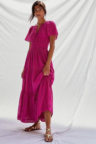 ANTHROPOLOGIE FR Eyelet Maxi Dress