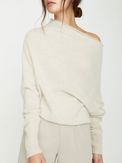 BROCHU WALKER The Lori Off The shoulder Cashmere Jumper