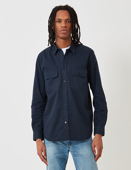 Carhartt-WIP Madison Men Cord Shirt - Dark Navy Blue