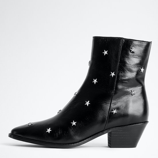 ZADIG & VOLTAIRE Tyler Vintage Stars Ankle Boots