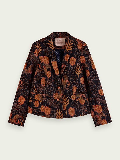 SCOTCH & SODA Girls Single-breasted jacquard blazer