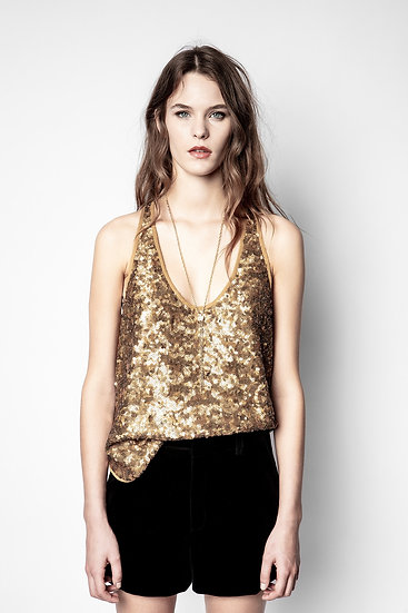 ZADIG & VOLTAIRE Sequin Top