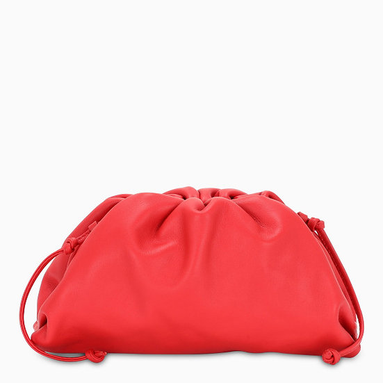 BOGETTA VENETA The Red Mini Pouch Clutch