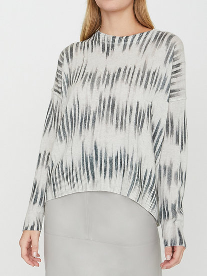 BROCHU WALKER Printed 100% Crewneck Cashmere Jumper