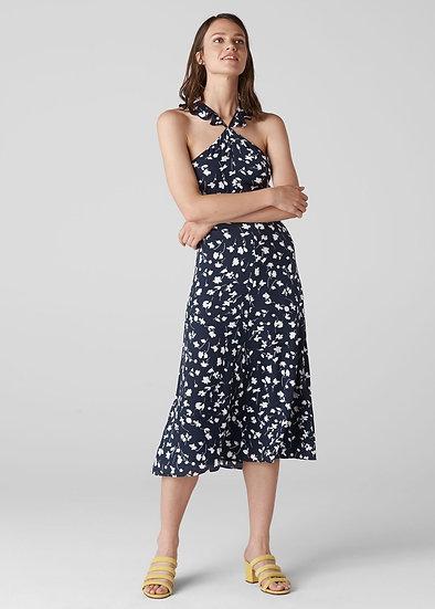 WHISTLES Print Frill Dress