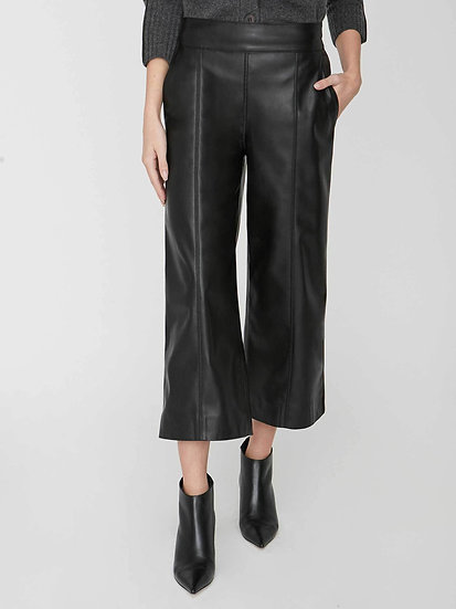 BROCHU WALKER Vegan Leather Cropped Trousers