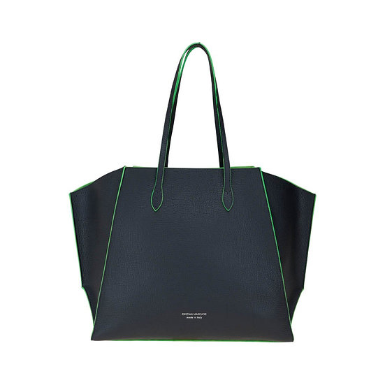 CRISTIAN MARCUCCI Black Leather Tote