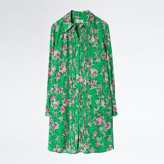 ZADIG & VOLTAIRE Green Print Dress