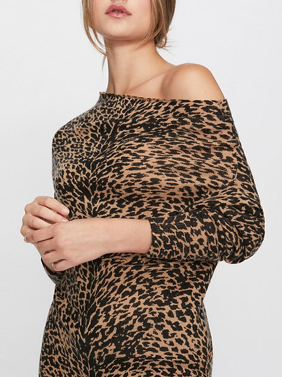 BROCHU WALKER Cashmere Animal Print Sweater