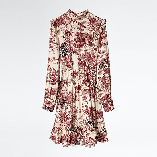 ZADIG + VOLTAIRE Print Satin Dress