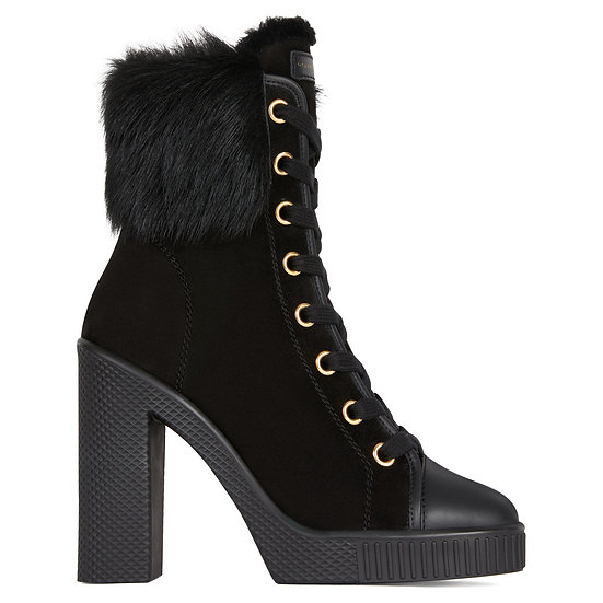 GIUSEPPE ZANOTTI  UK Nidir High Top Trainers with Fur Trim