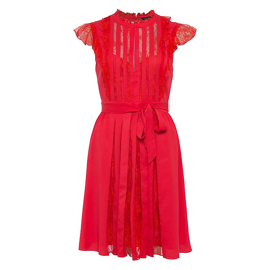 FRENCH CONNECTION Eva Red Dress