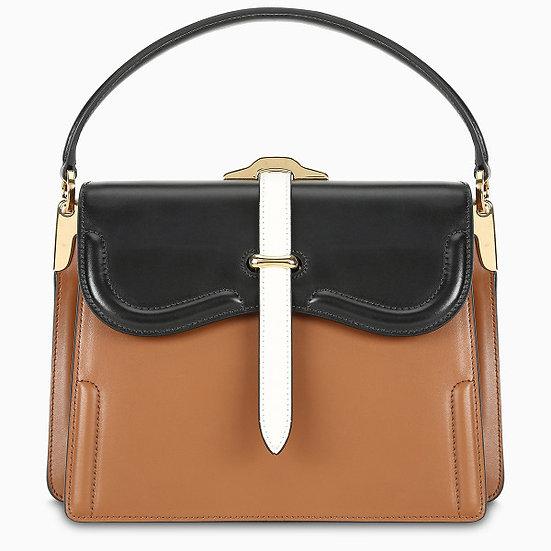 PRADA Cognac Belle handbag