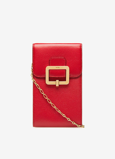 BALLY Jyllian Red Leather Wallet