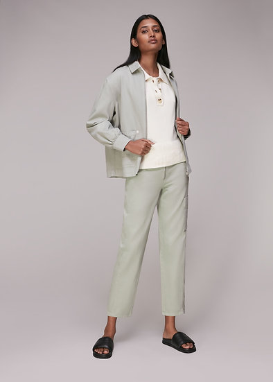 WHISTLES Zip Front Trouser