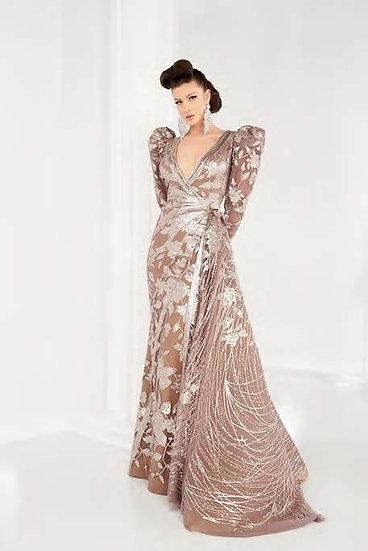 Fouad Sarkis Deep V-Neckline Dress