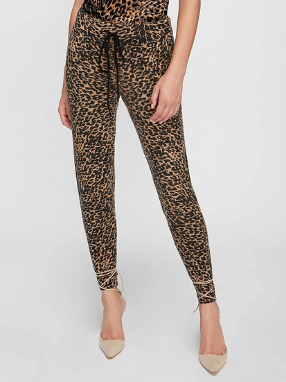 BROCHU WALKER The Oreli Cashmere Leopard Prints Pants