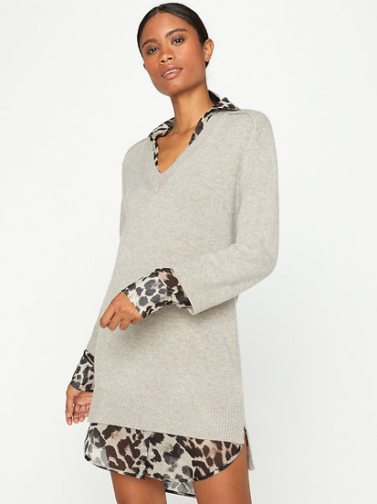 BROCHU WALKER The Printed Layered Looker Dress