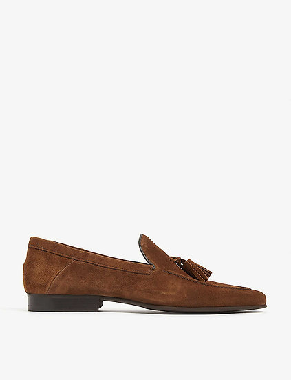 REISS Suede Loafers at selfridges