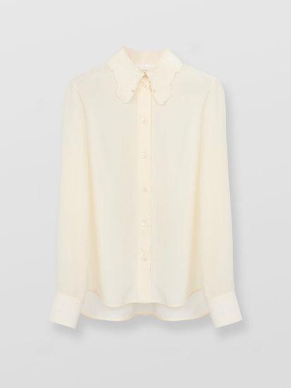 CHLOÉ Classic blouse Women's Buttercream