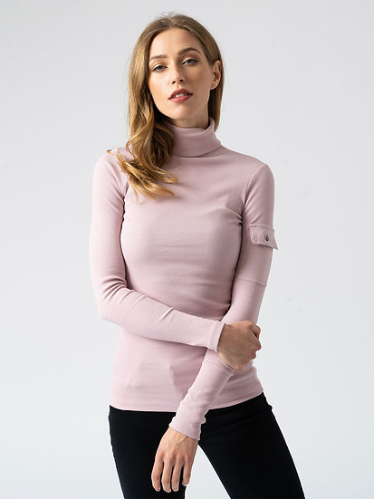 SAINT + SOFIA Lilac Roll Neck