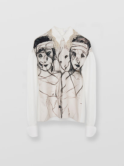 CHLOÉ  Women 100% Silk Printed blouse