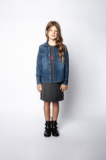 ZADIG & VOLTAIRE Girls Denim Shirt