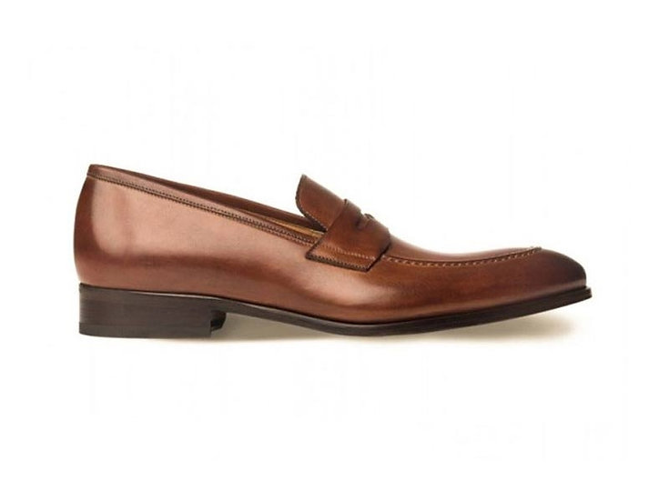 ACE MARKS Penny Brown Italian Leather Loafers