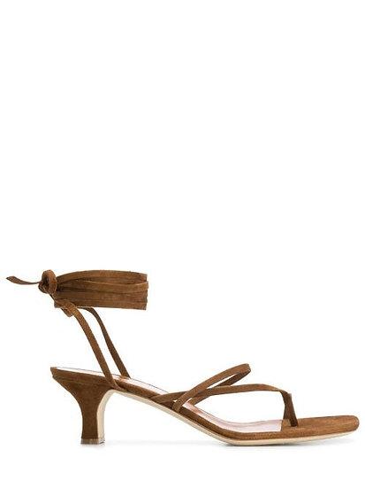 PARIS TEXAS Wrap Tie Low Sandals