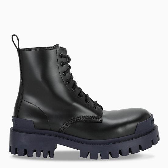 BALENCIAGA Lace up Military Boots