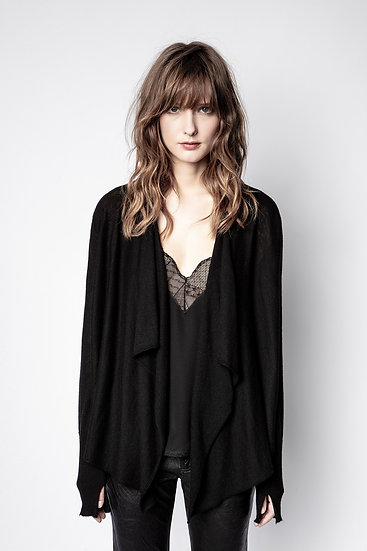 ZADIG & VOLTAIRE Cashmere Waterfall Cardigan