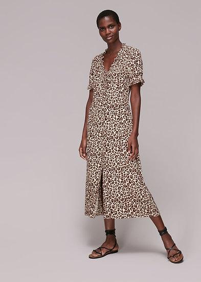 WHISTLES Leopard Print Dress