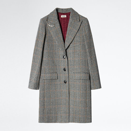 ZADIG +VOLTAIRE Wool Check Coat