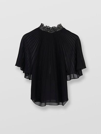 CHLOÉ Silk Cape-like Top