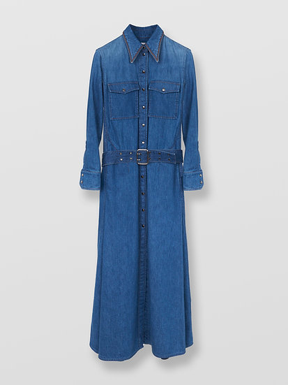 CHLOE Denim Shirt Dress