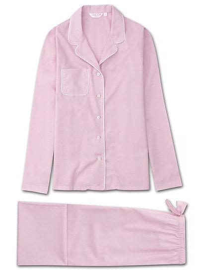 DEREK ROSE Women's Pyjamas Amalfi Cotton Batiste Rose