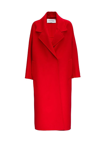 VALENTINO Cashmere & Wool Red Coat