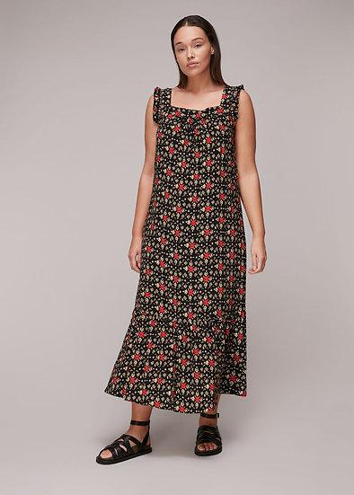 WHISTLES Print Midi Dress