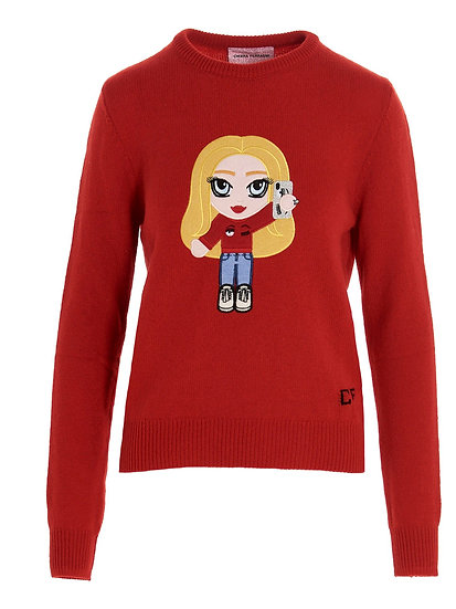 CHIARA FERRAGNI Women Red Jumper