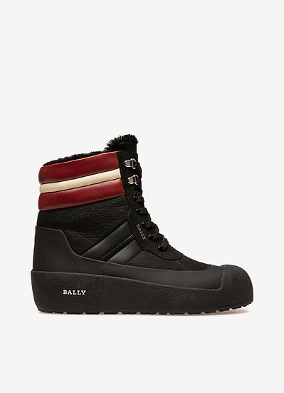BALLY Men Leather Snow Boots